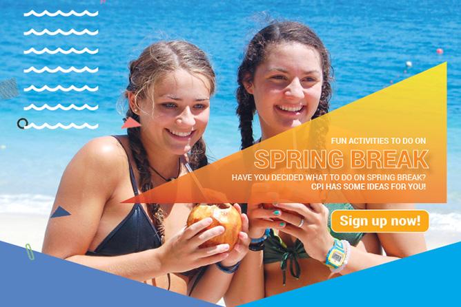 newsletter spring break head
